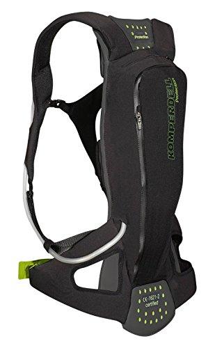Komperdell Litepack Protektorenrucksack Mit Integriertem Rückenprotektor, schwarz, 174-179