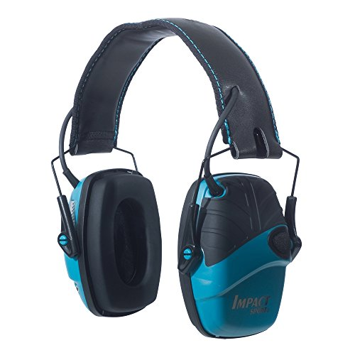 Howard Leight by Honeywell Impact Sport Sound Amplification Electronic Shooting Earmuff, Teal