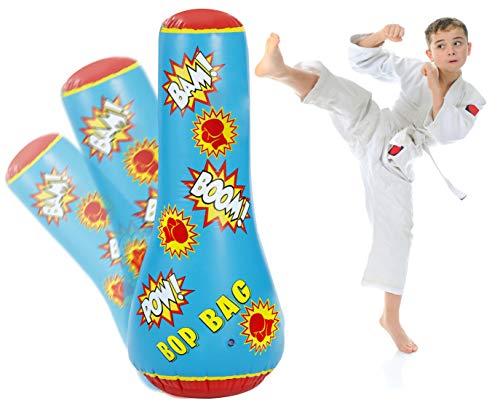 Bundaloo Kids Punching Bag Toy - Inflatable, Bounce Back - 44