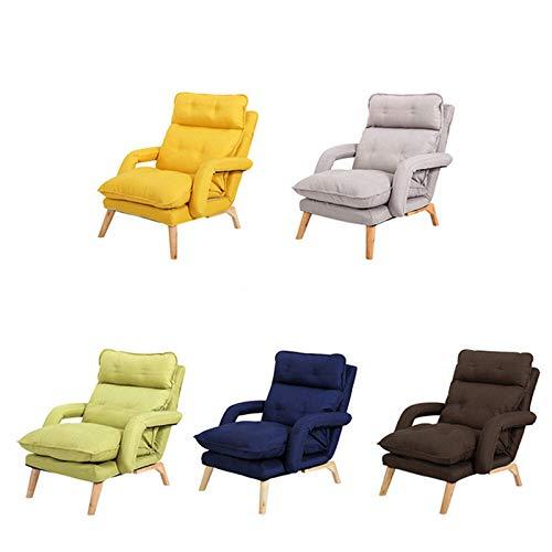 Jtoony, sedia da salotto regolabile pieghevole per divano e divano reclinabile, per il tempo libero, per la casa, per soggiorno, per la casa, dimensioni: taglia unica, colore: grigio