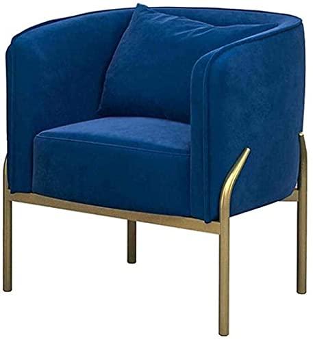 Wohnzimmersofa Einzelsofa, Sessel Bürosessel, Loungesessel Samtblau