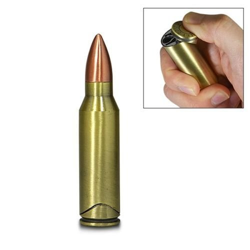 50 Cal Bullet Windproof Butane Jet Torch Cigar Cigarette Lighter by ALC