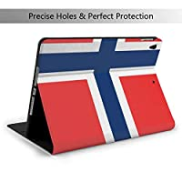 ノルウェーの旗 IPad Air3 & Pro ケース 10.5インチ/iPad 第7世代 ケース 10.2 インチ 高級PUレザー TPU ソフト、オートスリープ&スタンド機能付き、ひび割れ防止 スマートケース カバー、兼用手帳型保護カバー 超軽量 全面保護