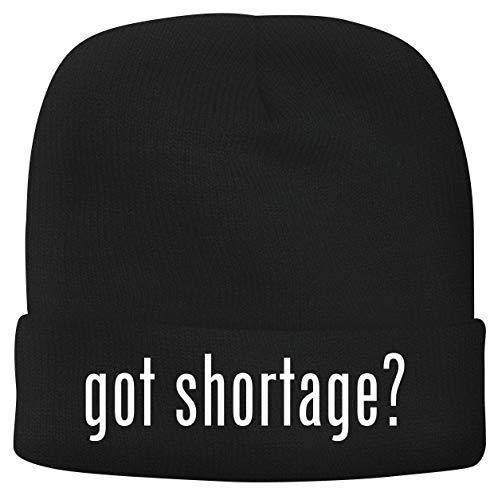 BH Cool Designs got Shortage? - Men's Soft & Comfortable Beanie Hat Cap, Black, One Size
