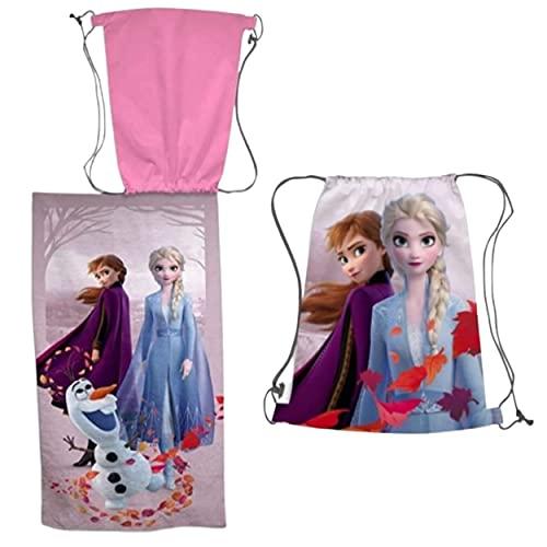 Disney Toalla de Playa Frozen + Bolsa de Playa Frozen