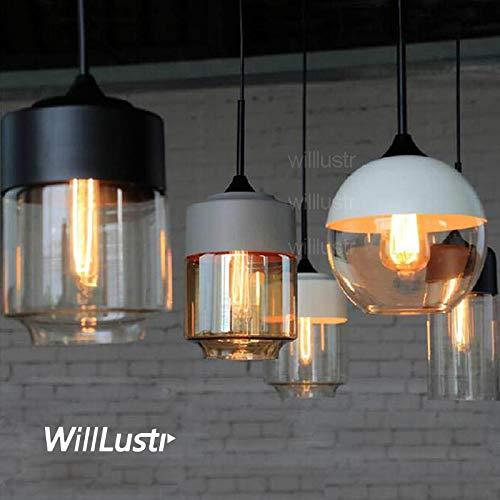 5151BuyWorld hanglamp barnsteen licht hanglamp lampenkap wit grijs glas zwart moderne verlichting eetkamer woonkamer slaapkamer hotel licht koffie