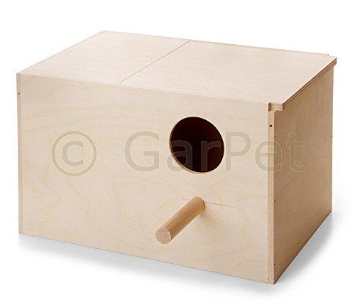 Vogel Holz Nist Brut Kasten Haus Nist Mulde Kobel Sittich Papagei Exoten Nest (Gr.3)