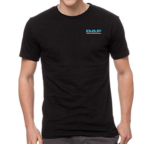 DAF LKW Bestickte T-Shirt super Premium-Qualität, 100% Baumwolle -4108-SCHWARZ (XL)
