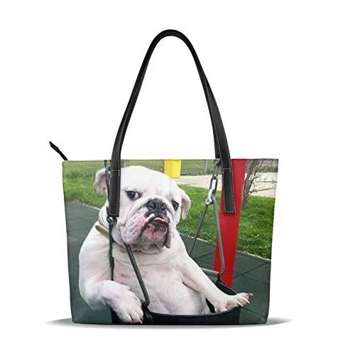 Sexy Hund-Schultertasche für Damen mit modischem Muster.