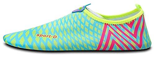 Zapatos de agua para niños y para hombres descalzos descalzos de agua de secado rápido calcetines de playa al aire libre calcetines ligeros de agua zapatos de playa ( Color : Green , Size : 41/42EU )