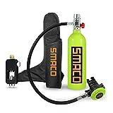 roadwi Equipo de buceo Scuba botella de oxígeno, equipo de buceo, 1 litro, mini botella de buceo, 15 – 20 minutos, respirador libremente, equipo de protección respiratoria portátil, kit de buceo