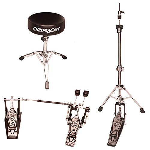 ChromaCast CC-VS-KIT-4 Two Legged Adjustable Hi Hat Stand with Double Bass Pedal