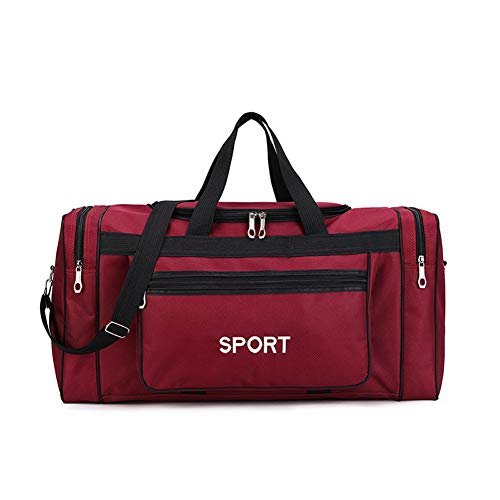 Moligh doll Large Capacity Gym Bag Men and Women Sports Gym Bag Outdoor Training Travel Luggage Bag Red
