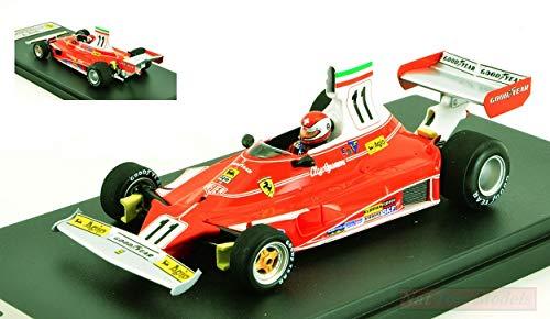LOOKSMART Modelo A Escala Compatible con Ferrari 312T N.11 Winner Italian GP 1975 Clay REGAZZONI 1:43 LSRC060