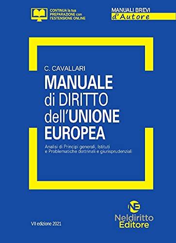 Manuale di diritto dell'Unione Europea. Analisi dei principi generali, Istituti e problematiche dottrinali e giurisprudenziali