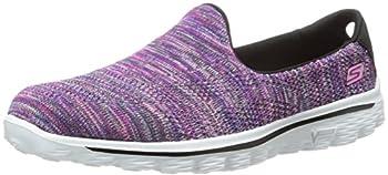Skechers Performance Women s Go Walk 2 Hypo Walking Shoe,Black Multi,7.5 M US