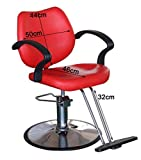 Beauty Style Salon Spa Chair Classic Hydraulic Styling Chair Hydraulic Red