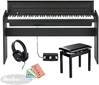 KORG コルグ 電子ピアノ LP-180 BK+純正高低自在イスPC-300BKセット 88鍵 ブラック 黒 電子ピアノ部門最優秀賞を受賞したKORGによる人気商品 譜面立てとペダルが付属