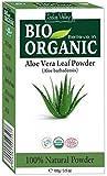 Polvo orgánico natural puro de Vera del áloe con el libro libre 100g de la receta (Aloe vera Leaf Powder)