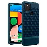 caseology parallax, cover pixel 4a 5g, design antiurto, modello 3d, custodia per google pixel 4a 5g - aqua green