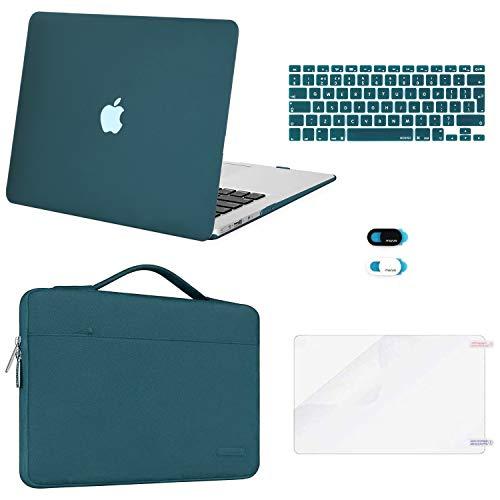 MOSISO Funda Dura Compatible con MacBook Air 13 (A1369/A1466, Versión 2010-2017), Plástico...