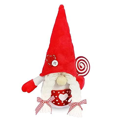 xiuginFU Paar Kerst Gnome Kerstman Handgemaakte Pluche Zweedse Doll Kawaii Vakantie Cadeau voor Kerstdecoratie voor…