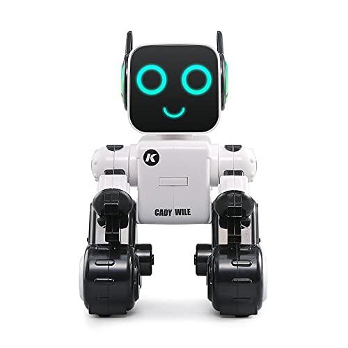 CNmuca Robô Inteligente Brinquedo Interativo Canto e Dança Ciência Matemática Ação Programação Mobile APP Operação branco
