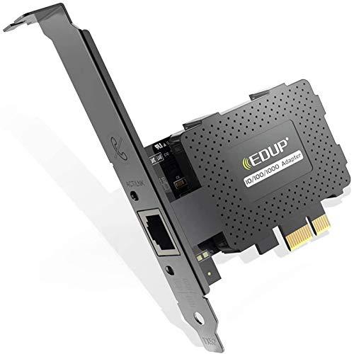 EDUP EP-9602GS Gigabit Ethernet PCI Express PCI-E Scheda di rete Convertitore adattatore LAN RJ45 10/100 / 1000Mbps per PC desktop