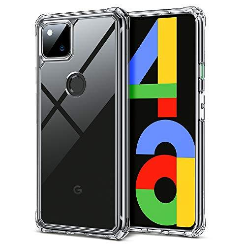 ESR Air Armor Schutzhülle für Google Pixel 4a (2020), stoßdämpfend, Kratzfest, militärischer Schutz, Harter PC + Flexibler TPU-Rahmen, transparent
