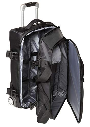 Reisetasche-Reisetrolley-Trolley Rollen Tasche-Doppeldecker 66 cm Erweiterbar Schwarz Dermata Bowatex