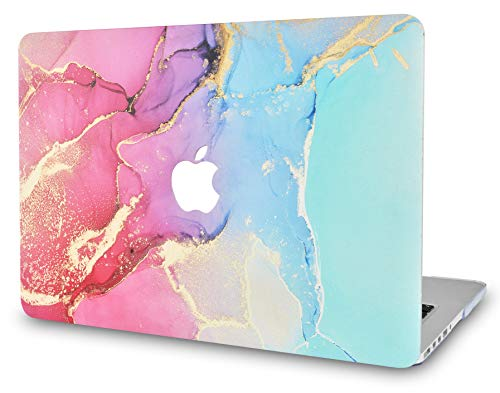LuvCase Laptop Case Compaitable with MacBook Air 13 Inch(2021/2020/2019/2018) A2337 M1/A2179/A1932 Retina Display (Touch ID)RubberizedPlasticHardShellCover (Red Blue Swirl)