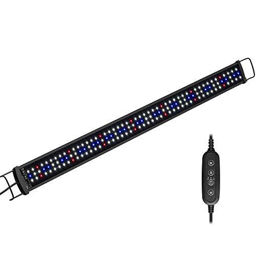 NICREW SlimLED Luz para Acuario Plantado, Luz Delgada LED Acuario Plantado, Lámpara para Acuario de Dulce Agua, 90-110 cm, 25W, 1600 LM, Temperatura de Color Regulable