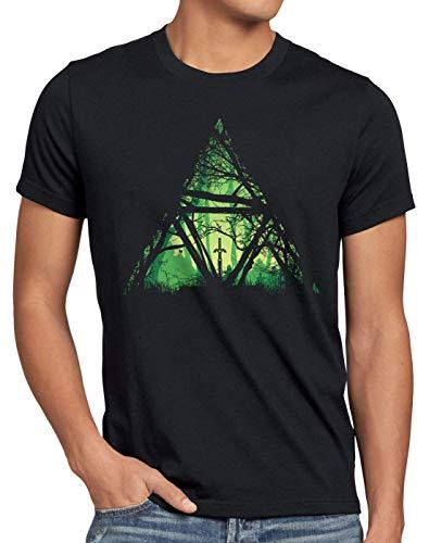 style3 Nature Triforce Herren T-Shirt link Hyrule Gamer, Größe:L