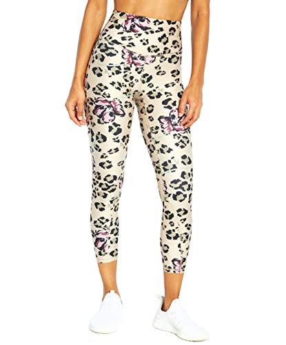 Marika Damen Athena High Rise Ankle Leggings, Baldrian Leopard Floral, X-Groß