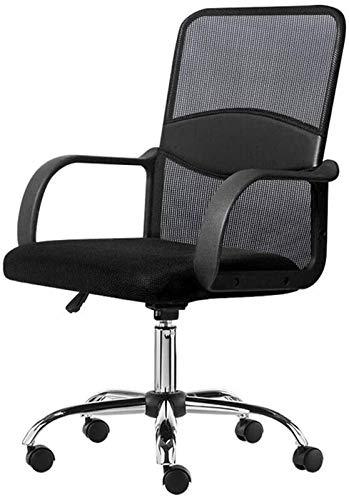 TUHFG Liegestuhl Office Life Executive Recline Mesh Bürostuhl, ergonomische Freizeit Swivel Computer Schreibtisch Stuhl Einstellbare Höhenschloss Recliner Bürostuhl (Farbe: Schwarz) (Color : Black)