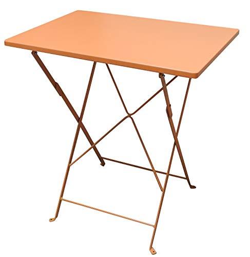 talenti metalen tafel klaptafel 50x70cm oranje tuintafel bijzettafel tuin balkon bistrotafel
