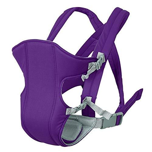 XYLZDPZ Syczdyebd Transpirable Frente al Frente bebé Portador cómodo Sling Mochila Bolsa Envoltura bebé Canguro Ajustable Seguridad de Seguridad for 2-30 m Fular portabebe (Color : Purple)