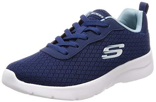 Skechers 12964 NVLB Dynamight 2.0 - Eye to Eye Damen Sneaker aus Textilmaterial, Groesse 41, blau