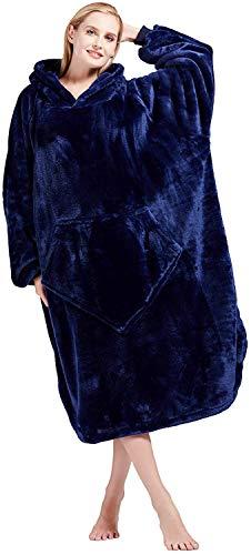 Bobor Oversized Blanket Hoodie, Big Sweatshirt Wearable Fleece Blanket with Large Front Pocket for Adults, Men, Women, and Kids, Fuzzy,...