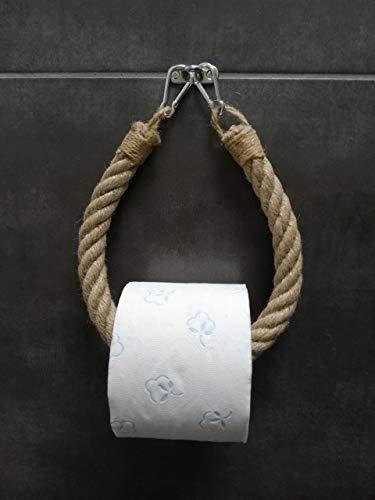Solenzo Toilettenpapierhalter Vintage – Handtuchhalter – Industrieseil