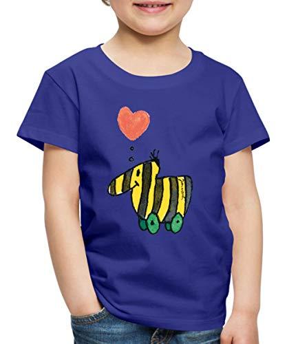 Janosch Große Tigerente Mit Herz Kinder Premium T-Shirt, 110-116, Königsblau