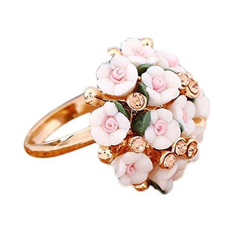 Drawihi 1PC Pequeño anillo de flores frescas Anillos Joyería Mujer Anillos Joyería...