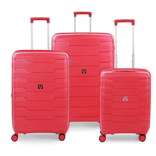 RONCATO Skyline set 3 maletas rígidas ampliables (ancho + medio + cabina) Rojo