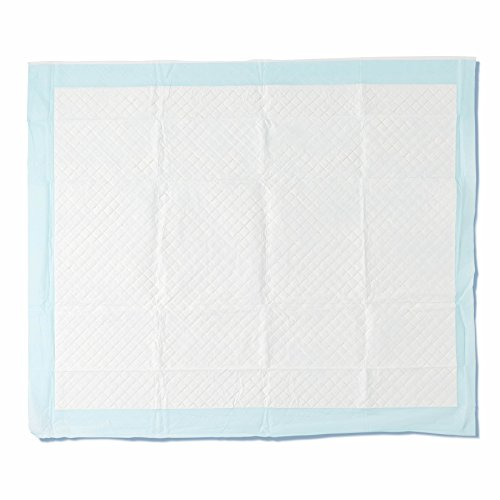 "Medline Heavy Absorbency 30"" x 36"" Quilted Fluff and Polymer Disposable Underpads, 75 Per Case, Great for Protecting Beds, Furniture, Surfaces"