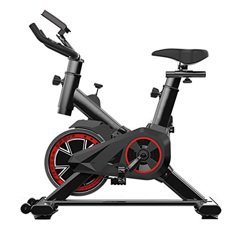 Indoor Cycling Bike Spinning Bicycle, Ultra-Quiet Fitness Bike And Ab Trainer, Speed bike with Low-noise Belt Drive System, zwart