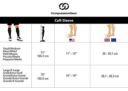 Compressions Socken mit Wadenärmeln zur Unterstützung der Schienbeinschiene für Männer und Frauen (1 Paar) Klein-Mittel Schwarz - 6