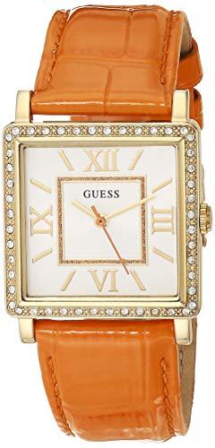 Guess Damen Analog Quarz Uhr mit Leder Armband W0829L10