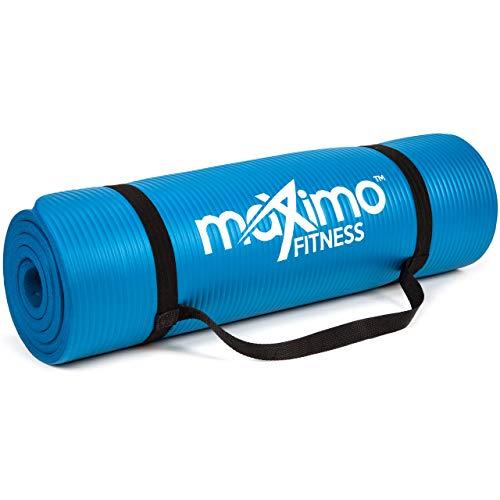 Maximo Exercise Mat - Multi-Purpose 183cm x 60cm Extra Thick Yoga Mats for Men, Women &...