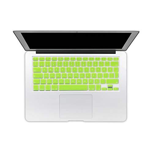 Eu Turkish Version Silicone Keyboard Protector Stickers Skin For Macbook Pro 13 15 17 Retina Mac Air 13 Keyboard Cover-Neon Yellow