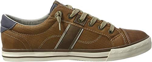 MUSTANG Herren 4072-301-307 Sneaker, Braun (307 Cognac), 42 EU